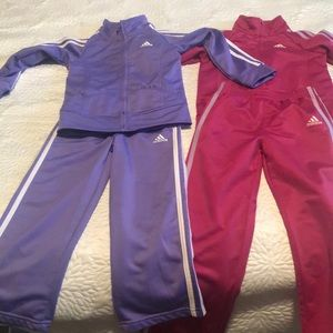 Adidas kids track suits